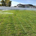 lawn sprinkler sytem after installation